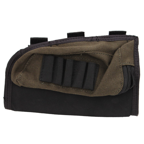 Buttstock Shell Holder and Pouch,Green