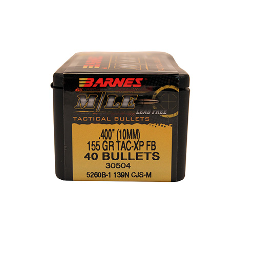 "40006 10mm .400"" 155gr MLE TAC-XP FB/40"