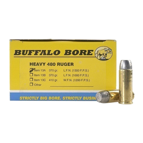 Hvy 480Ruger 370gr Hard Cast LFN GC /50