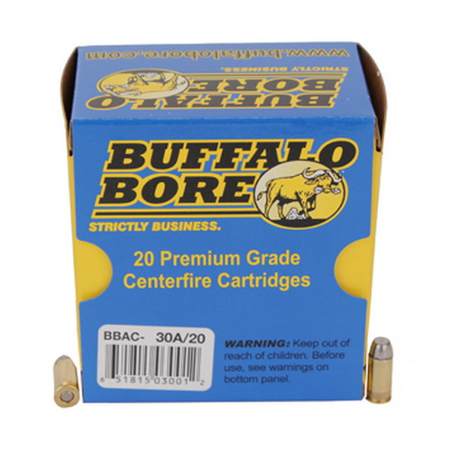 .32 ACP +P 75 Grain Hard Cast FN by Buffalo Bore Ammunition (20 Count)