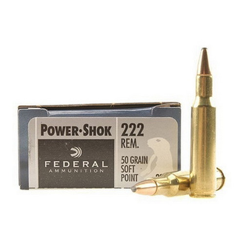 222 Rem 50gr SP Power-Shock /20
