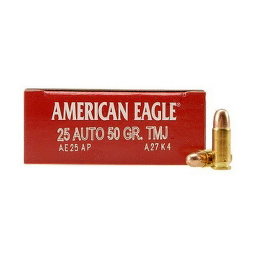 .25 Auto 50 Grains Full Metal Jacket By Federal's American Eagle (50 Count
