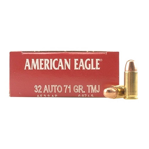 .32 Auto American Eagle 71 Grains Full Metal Jacket by Federal Cartridge (50 Count)