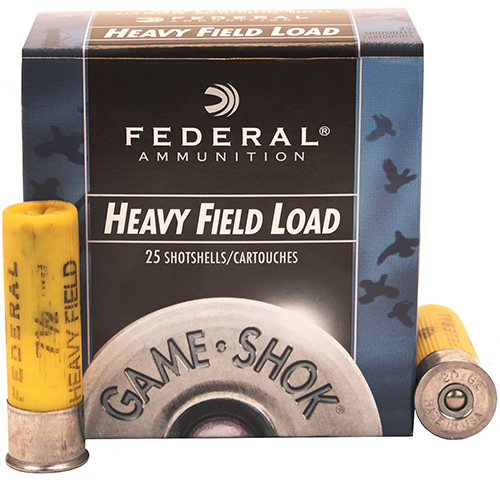 "Field Load 20ga 2 3/4"" 7.5-Shot /25"