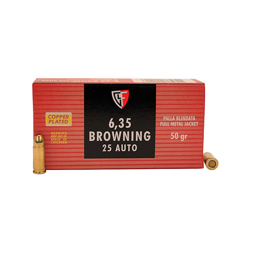 .25 Auto 50 Grains Full Metal Jacket by Fiocchi Ammo (50 Count)