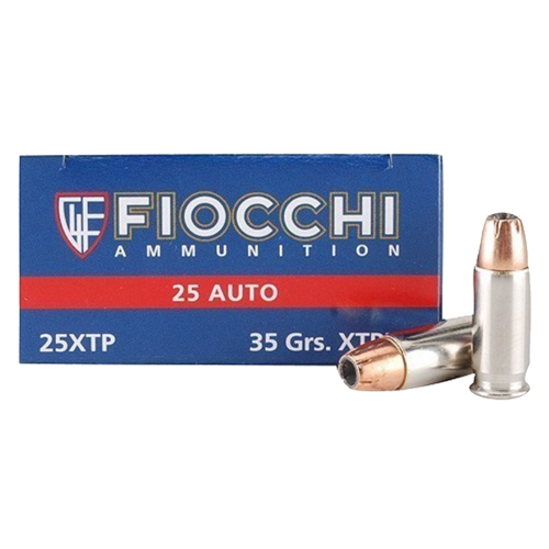 .25 Auto 35 Grains XTHP by Fiocchi Ammo (50 Count)