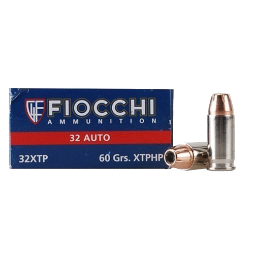 .32 ACP 60 Grains XTPHP by Fiocchi Ammo (50 Count)