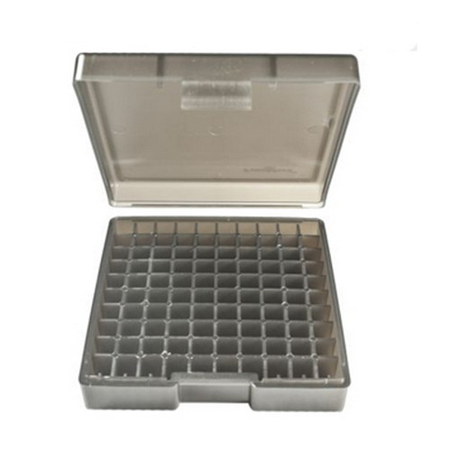 Gray Handgun Ammo Box fits 44 Sp. & 44 Mag. (100 Bullets)
