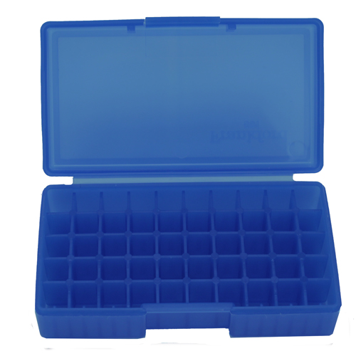 Blue Rifle Ammo Box Fits 50 Bullets