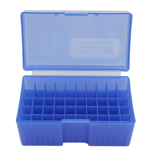 Blue Rifle Ammo Box Fits 50 Bullets (#509)