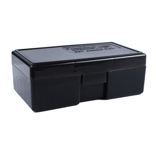 Gray Handgun Ammo Box Fits 44 Sp. & 44 Mag. (Holds 50 Bullets)