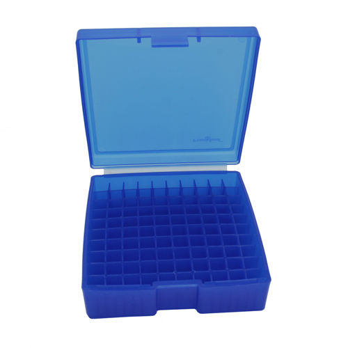 Blue Handgun Ammo Box Fits 44 Sp. & 44 Mag. (Holds 100 Bullets)
