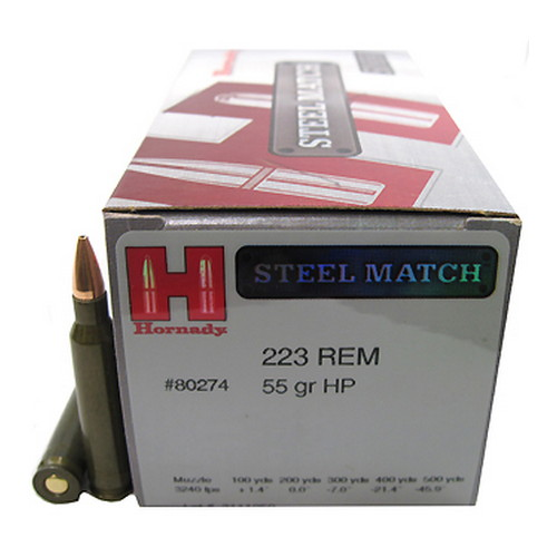 223 Rem 55gr HP SteelMatch /50