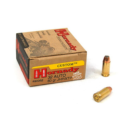 .32 Auto 60 grain Jacketed Hollow Point XTP by Hornady (25 Count)