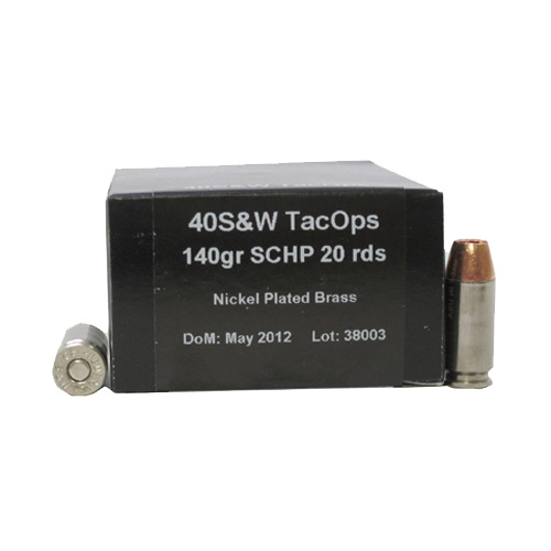 40S&W TacOps 140gr Solid Copper HP /20