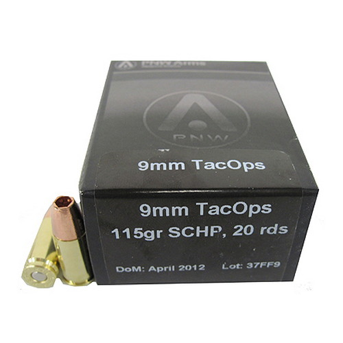 9mm TacOps 115gr Solid Copper HP /20