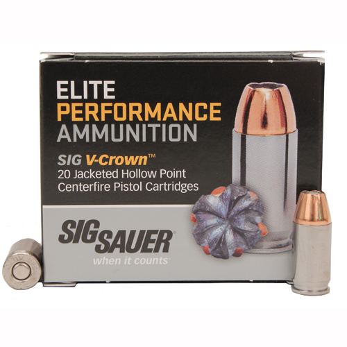 380ACP 90gr Elite V-Crown JHP /20