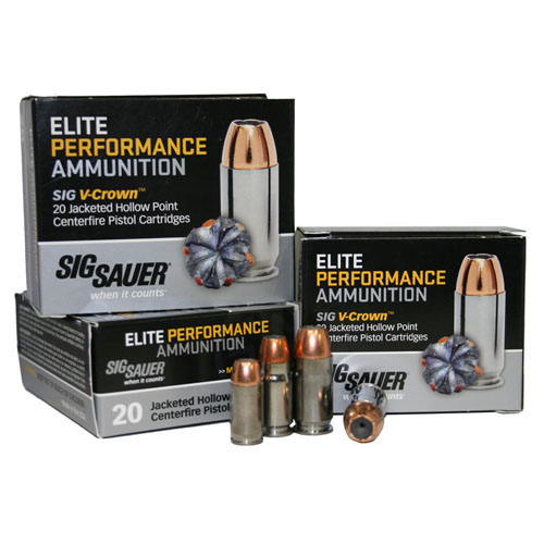 38 Super +P 125gr Elite V-Crown JHP /20