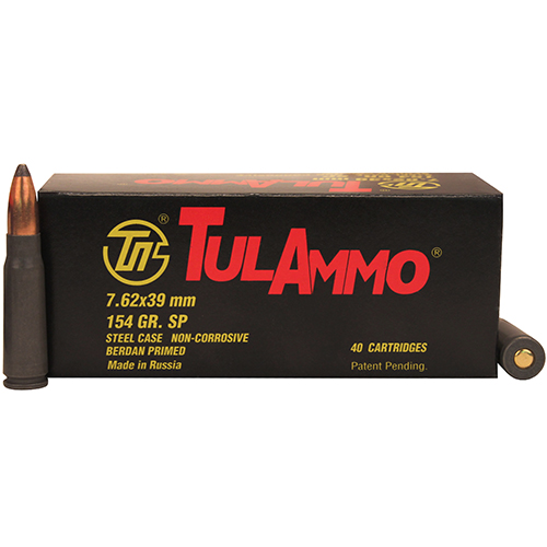 7.62x39 154gr SP Steel Case /40