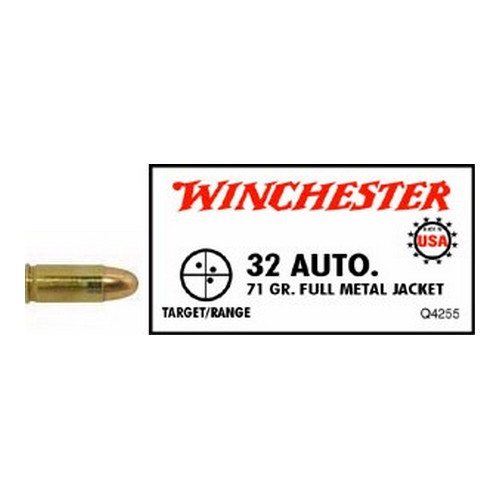 .32 Automatic USA, 71 Grains Full Metal Jacket by Winchester Ammo (50 Count)